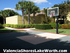 Got the itch to shoot some hoops. This half-court beside the Valencia Shores clubhouse is the palce to do it.
