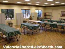 classes for various arts and crafts are held in this well equipped room at the Valencia Shores social clubhouse.
