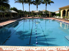 Swim your laps in Valencia Shores' lap pool. Then lounge beside the pool in the sun or the shade.