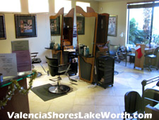 Convenience! This full-service hair and nail salon is located within the Valencia Shores Athletic Clubhouse. You can work out in the gym, relax in the steam room, and then get your hair done - the total spa experience without ever leaving Valencia Shores.